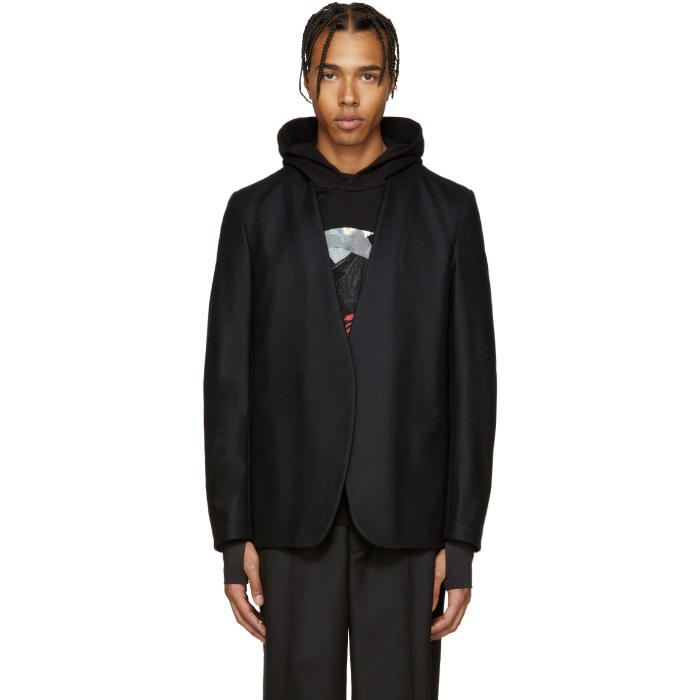 Maison Margiela Black Wool Deconstructed Blazer