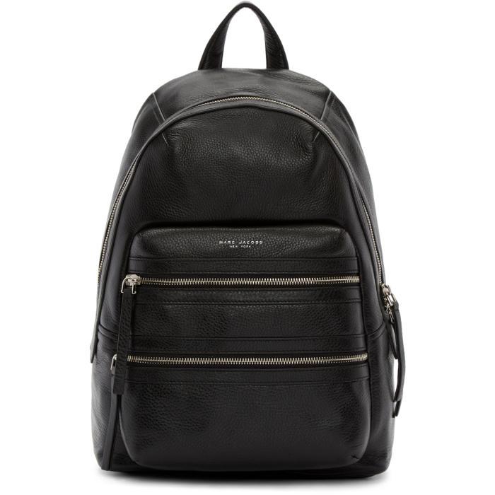 Marc Jacobs Black Leather Biker Backpack
