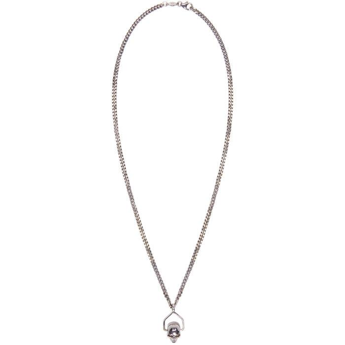 Alexander McQueen Silver Mini Skull Chain Necklace
