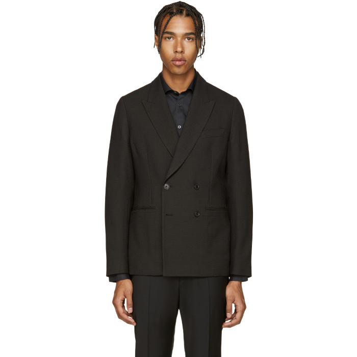 Paul Smith Black Textured Wool Blazer