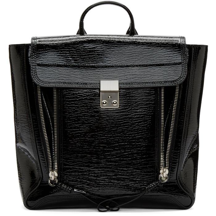 3.1 Phillip Lim Black Patent Leather Pashli Backpack