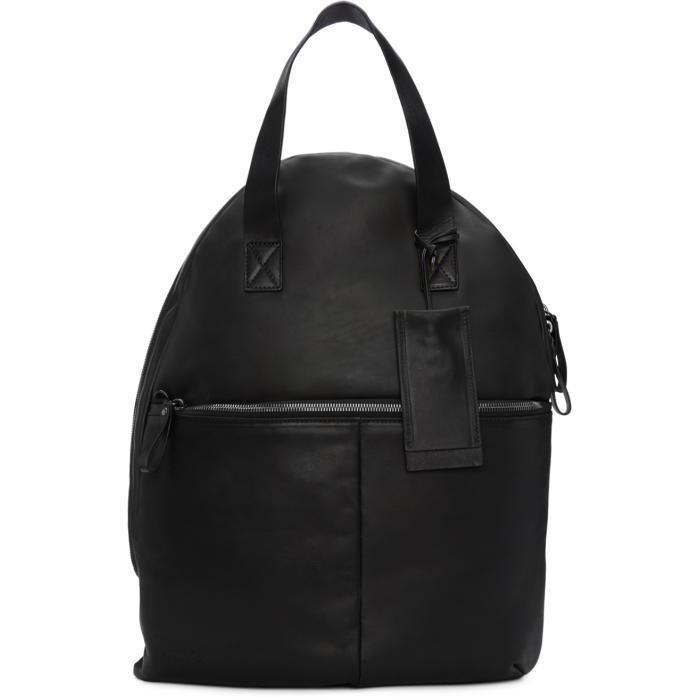 Marsèll Black Leather Backpack