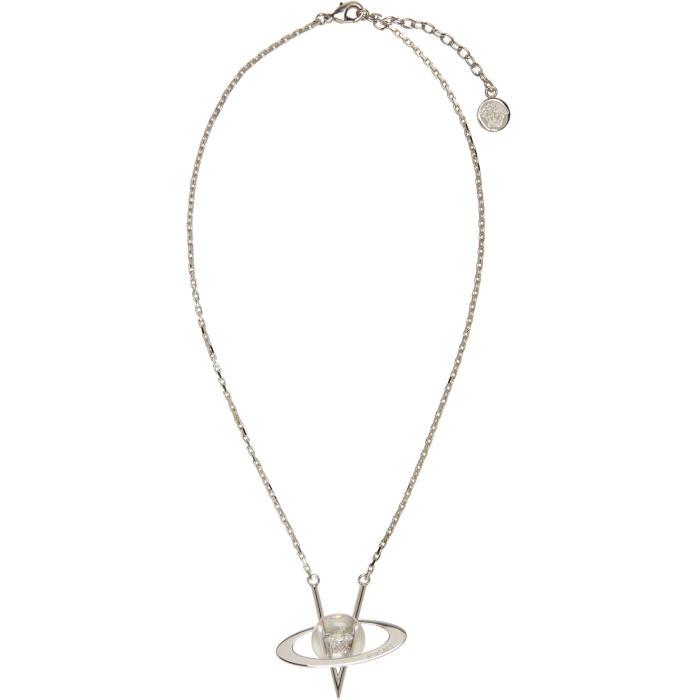 Versace Silver Pendant Necklace