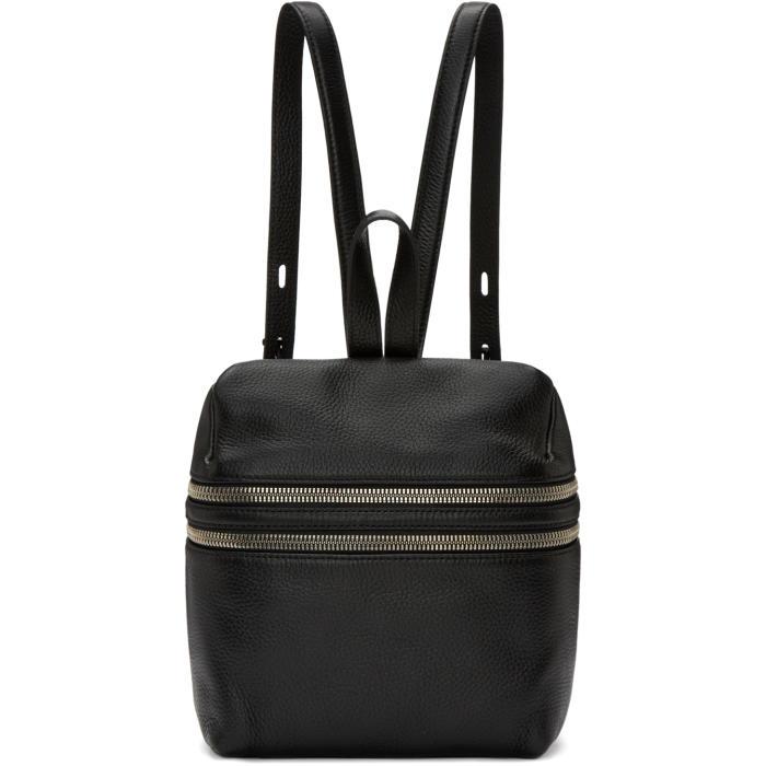 Kara Black Small Double Zip Backpack