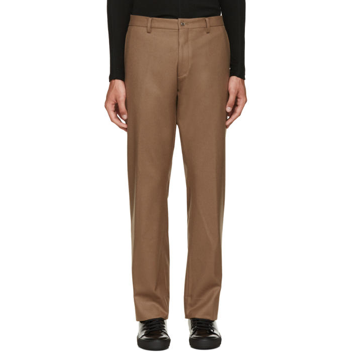 08Sircus Brown Wool Flannel Trousers