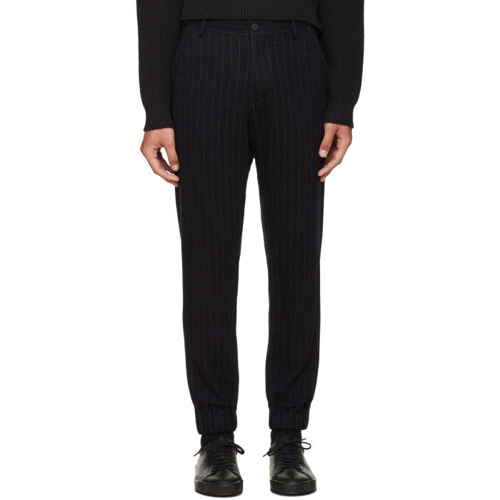 08Sircus Navy Pinstripe Trousers