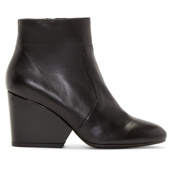 Robert Clergerie Black Leather Toots Boots
