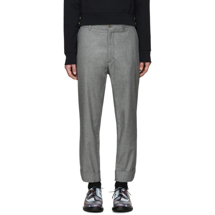 Moncler Gamme Bleu Grey Cropped Trousers