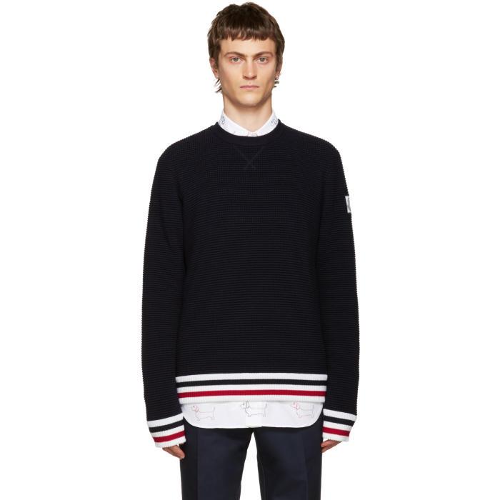 Moncler Gamme Bleu Navy Striped Sweater