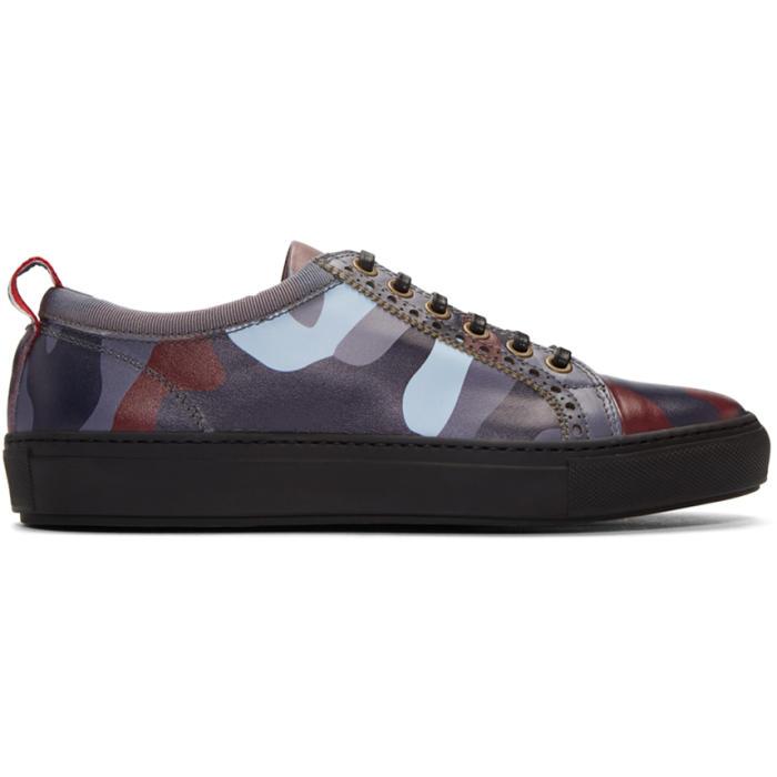 Moncler Gamme Bleu Multicolor Camo Sneakers