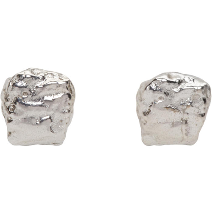 Pearls Before Swine Silver Mini Textured Earrings