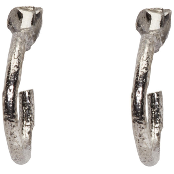 Pearls Before Swine SSENSE Exclusive Silver Loop Earrings