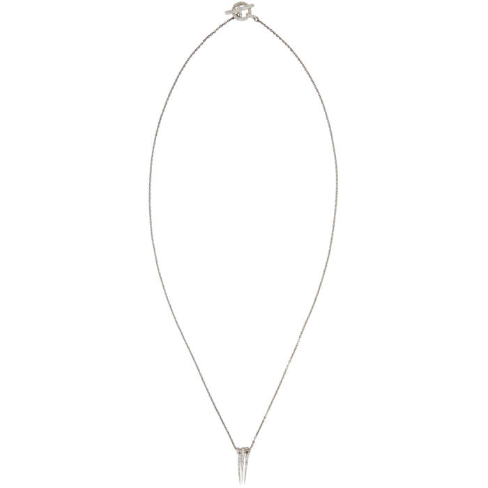 Pearls Before Swine Silver Triple Thorn Necklace