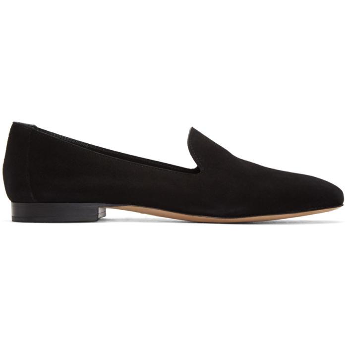 Mansur Gavriel Black Suede Venetian Loafers