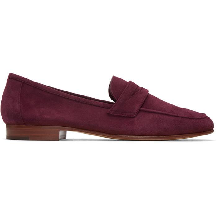 Mansur Gavriel Purple Suede Classic Loafers