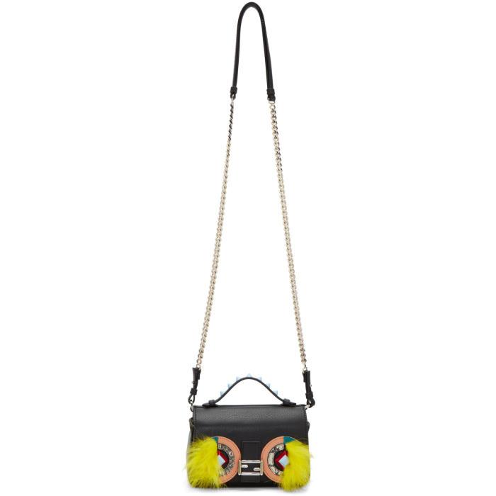 Fendi Black Eyes Double Micro Baguette Bag