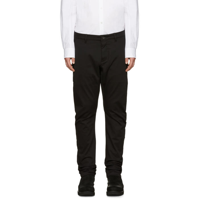Attachment Black Cotton Trousers