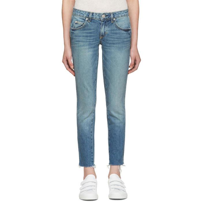 Amo Blue Stix Crop Jeans