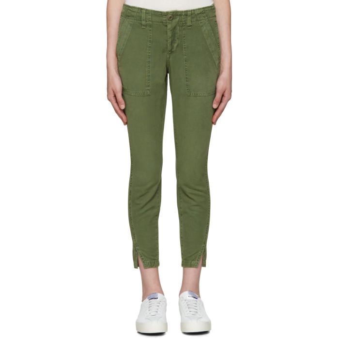 Amo Green Army Twist Trousers