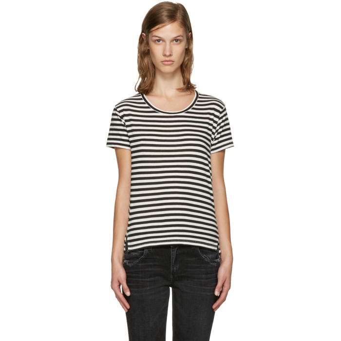 Amo Black and White Twist T-Shirt