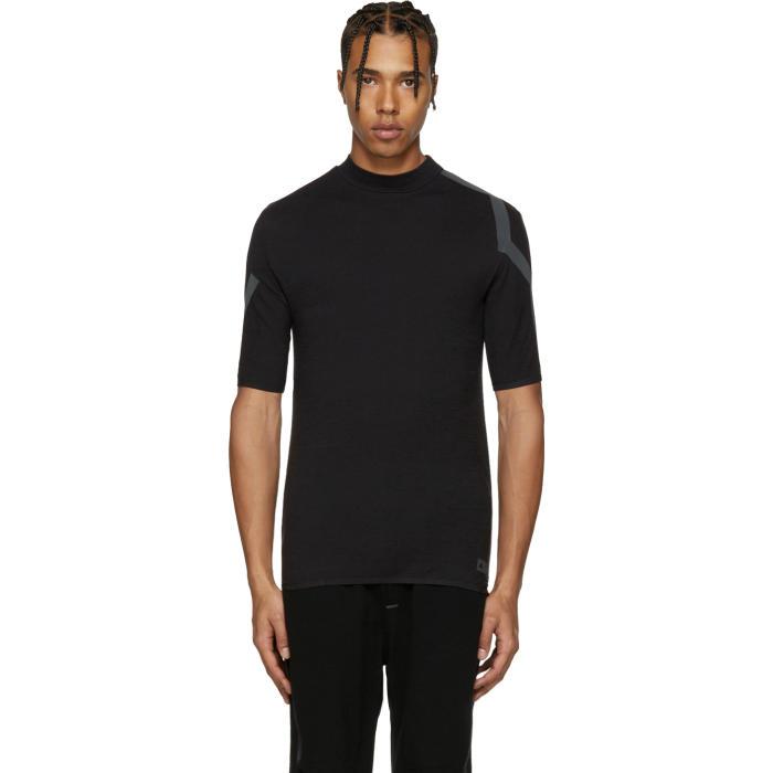 Y-3 SPORT Black Merino T-Shirt