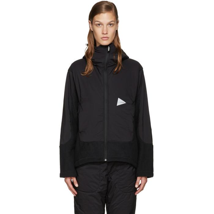 and Wander Black Twill Fleece Jacket