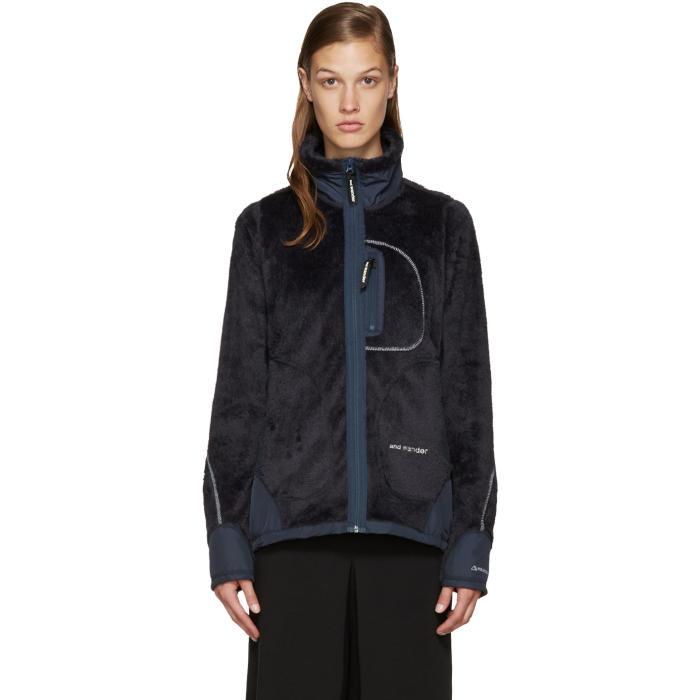 and Wander Navy High Loft Fleece Jacket