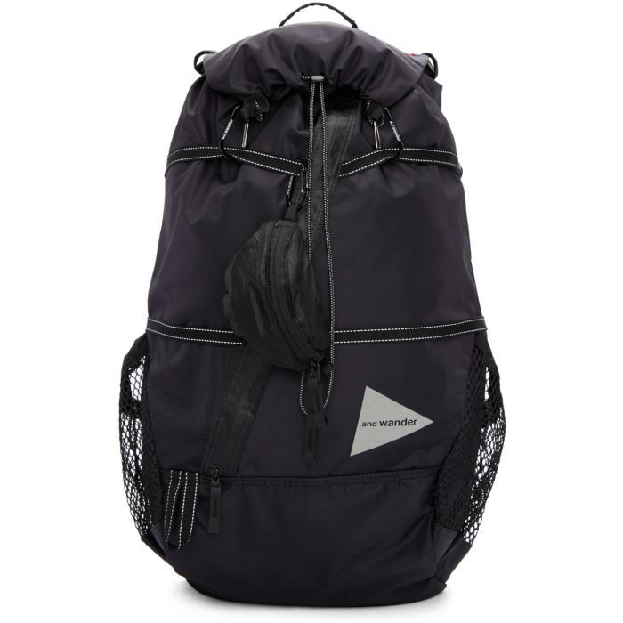 and Wander Black Nylon 40L Backpack