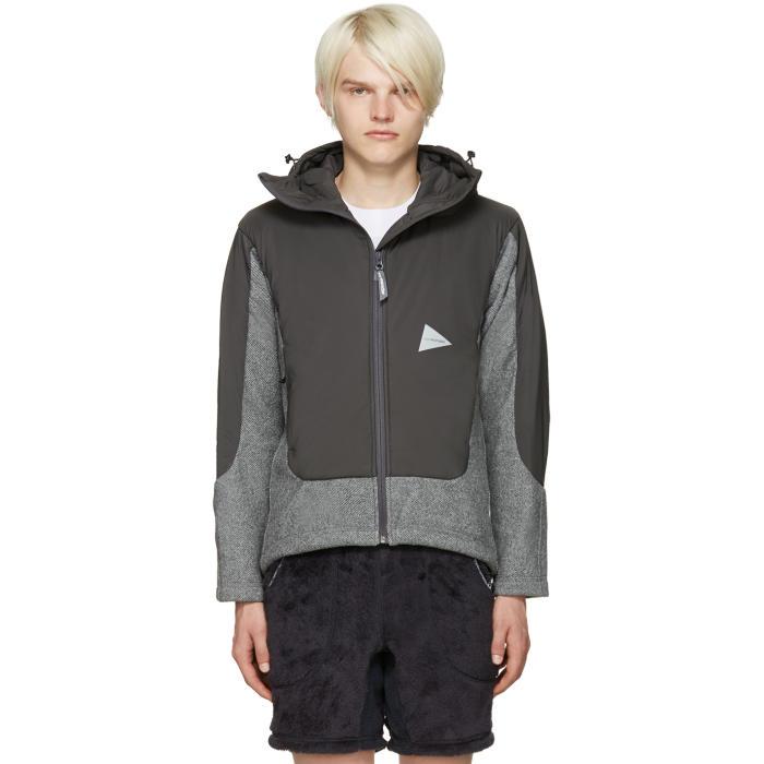 and Wander Grey Twill Fleece Jacket