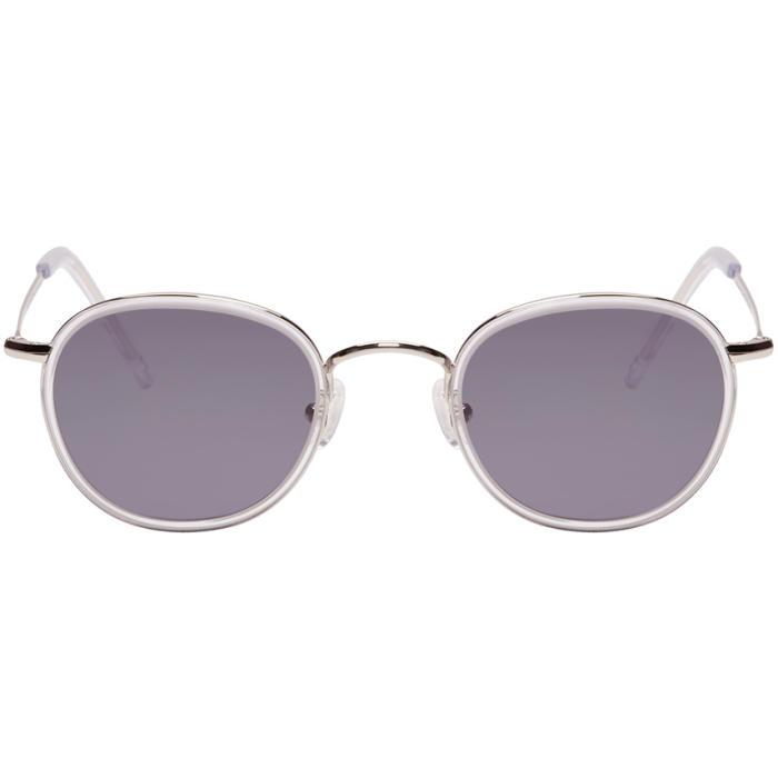 all in Silver Round Sunglasses