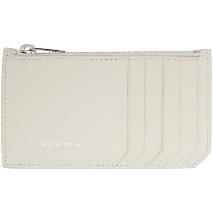 Saint Laurent Off-White 5 Fragments Zip Card Holder