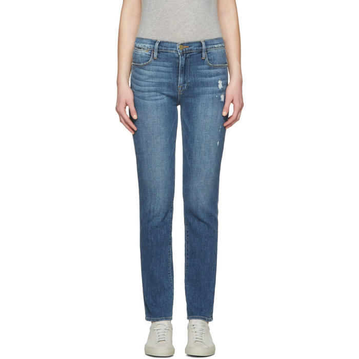 Frame Denim Blue Le High Straight Jeans