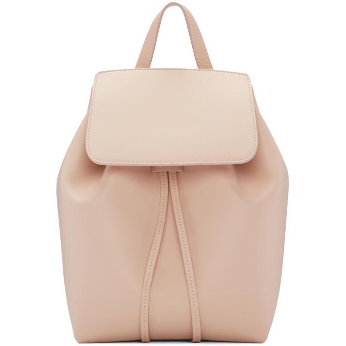 Mansur Gavriel Pink Leather Mini Backpack