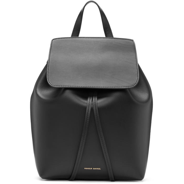 Mansur Gavriel Black Leather Mini Backpack