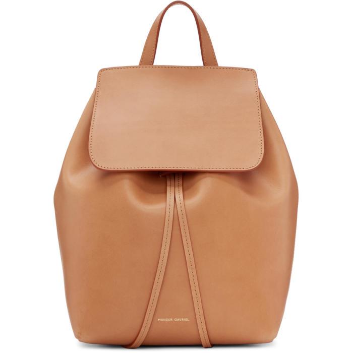 Mansur Gavriel Tan Leather Mini Backpack