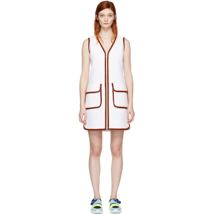 Emilio Pucci White Zip Dress