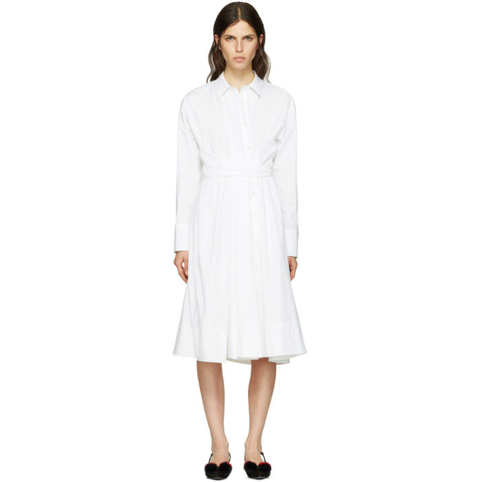 Emilio Pucci White Shirt Dress