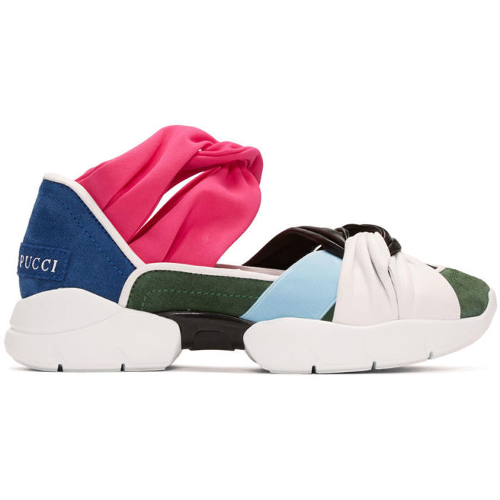 Emilio Pucci Multicolor Colorblock Sneakers