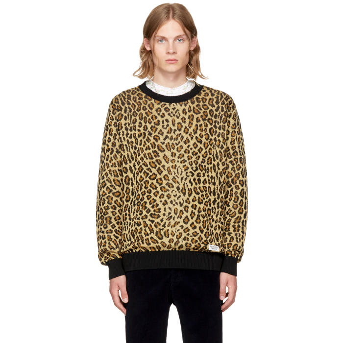 Wacko Maria Brown Leopard Sweater