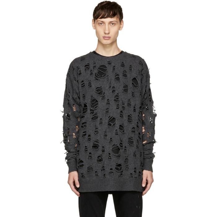 Diesel Grey K-Mock Sweater
