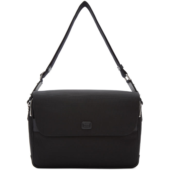 Dolce and Gabbana Black Canvas Messenger Bag