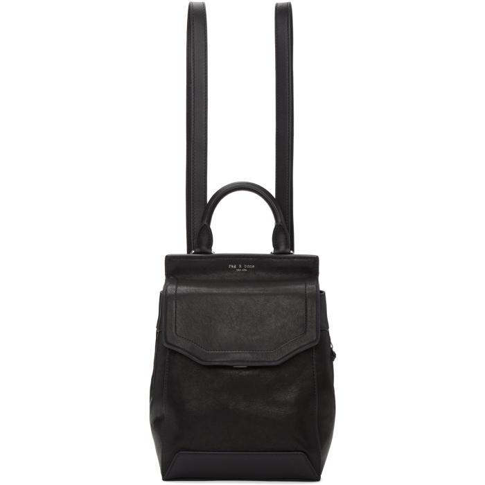 Rag and Bone Black Small Pilot II Backpack