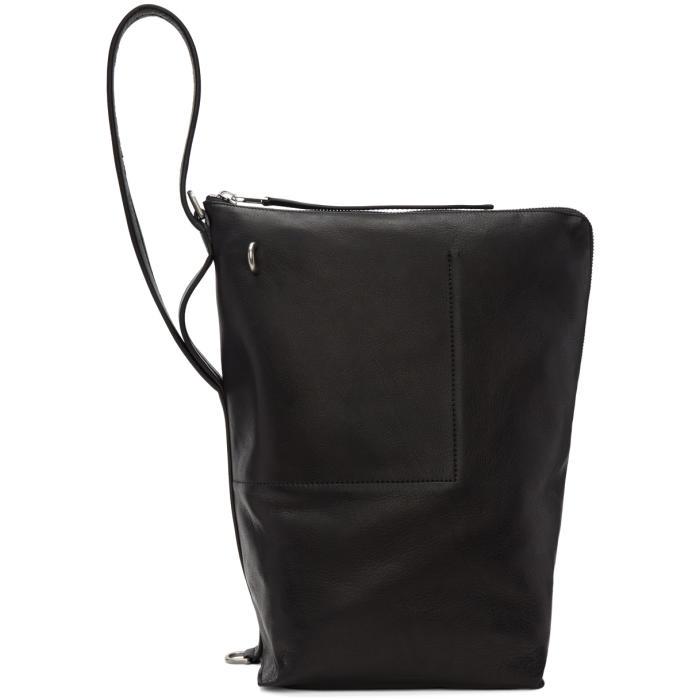 Rick Owens Black Bucket Bag