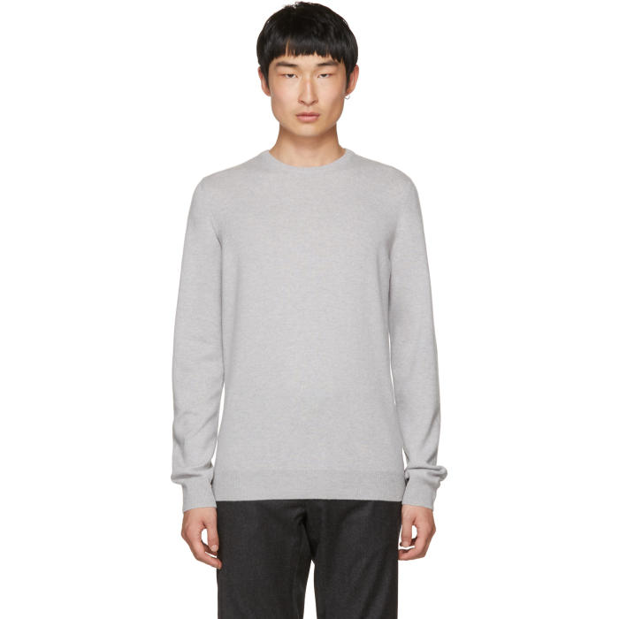 Jil Sander Grey Cashmere Crewneck Sweater