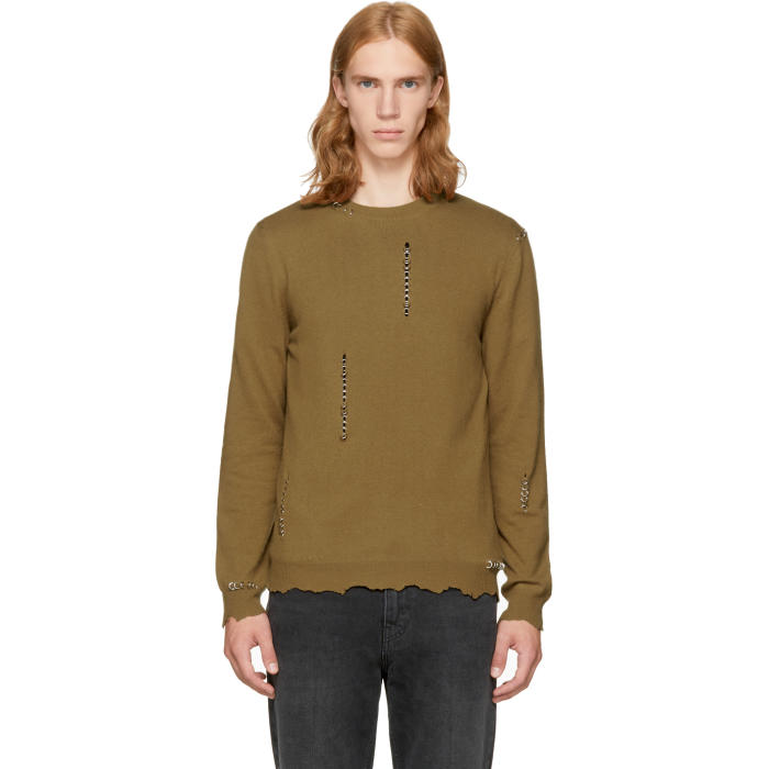Alexander McQueen Tan Punk Crewneck Sweater
