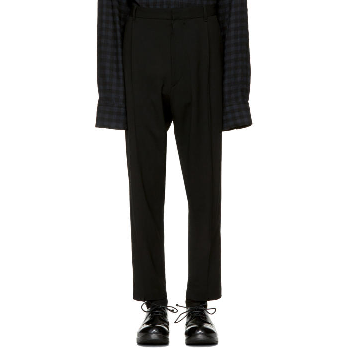 Ann Demeulemeester Black Classic Pleat Trousers