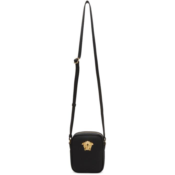 Versace Black Small Medusa Messenger Bag