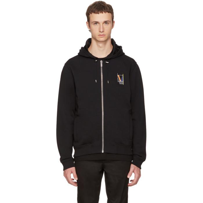 Versace Black Logo Back Zip Hoodie