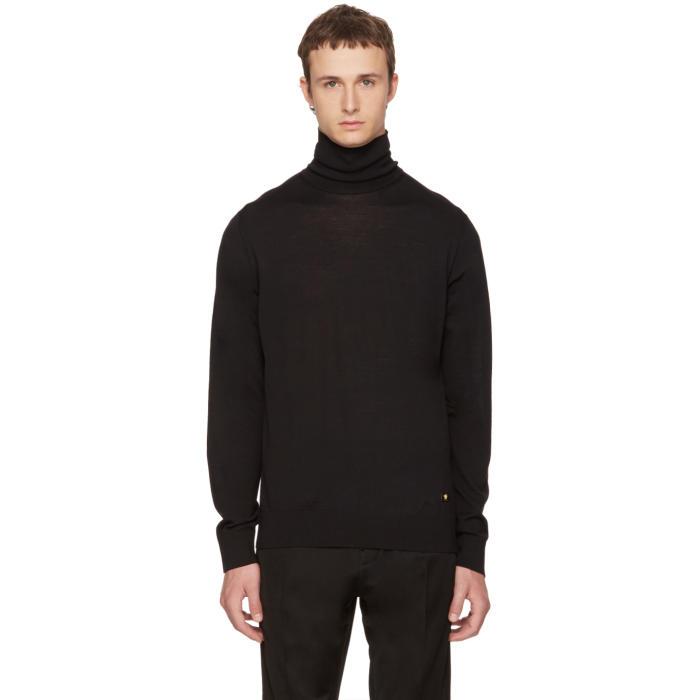 Versace Black Wool Turtleneck