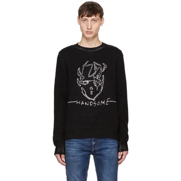 Saint Laurent Black Handsome Sweater